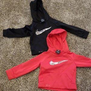2 2T Nike Dri fit sweatshirts.  Toddler